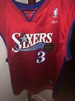 "Vintage Reebok NBA Philadelphia 76ers ""Sixers"" Alternate Jersey Allen Iverson XL"