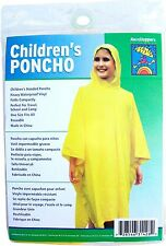 Lot-12 Yellow Ponchos for Kids Children, RainStoppers-School, Trips, Camping Fun