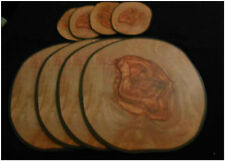 Contemporary Olive Wood Effect Cork Back Table Placemats Coasters Set 4 6 8 12 6 Coasters
