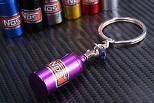 NOS Bottle Tank Nitrous Oxide Keyring Keyfob Keychain Metal Turbo Mini Pill Purp