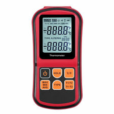 Digital Thermometer Dual Channel Input Thermocouple K J T E R S N C/F Selection