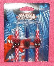 Spider Man Birthday Icon Candles,DecoPac, Red, Wax Cake Toppers, Decoration