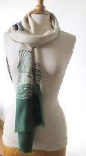 T. Belle grande écharpe vintage CHRISTIAN DIOR foulard twill soie TBE silk scarf