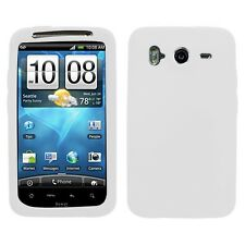 White Rubber Silicone Skin Case for HTC Inspire 4G