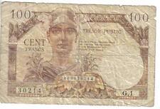 FRANCE, 100 FRANCS, TRESOR PUBLIC, P#M11a, ND(1955)