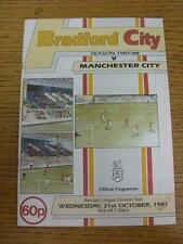 21/10/1987 Bradford City v Manchester City  (Small Mark On Cover)