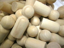 6cm wood Peg dolls  x 50  Toymaking, Male, Man, Pawns Little People