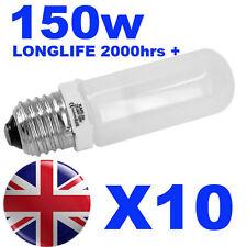 10x Halogen Long Life Modelling Bulb / Lamp / Light 150w for Bowens / Elinchrom