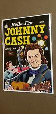 Hello I'm Johny Cash Comic Book, HTF RARE Spire Christian comic book. Vintage 💥