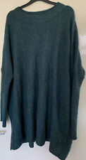 H&M Teal/green Oversized Jumper Size M/L