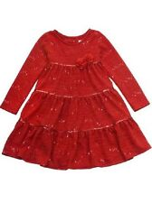 Rare Editions Christmas Holiday Red Sparkle Knit Dress