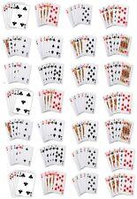 28 cartas de póquer Comestibles Cupcake / Hada Pastel Oblea papel Toppers