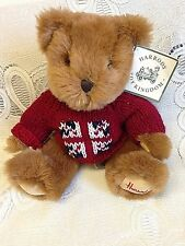 HARRODS Teddy Bear Knightsbridge, England  Plush stuffed high end teddy 13""