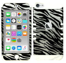 For Apple iPod Touch iTouch 5 | 6 - KoolKase Hybrid Cover Case - Zebra Silver