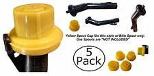 5Pk Blitz Replacement Yellow Spout Cap Top Fuel Gas Can # 900302 900092 900094