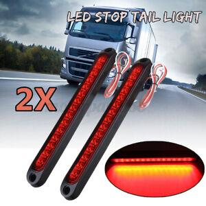 2x 15 LED Stop Brake Tail Reverse Light Ultra-Slim Trailer Truck Caravan UTE
