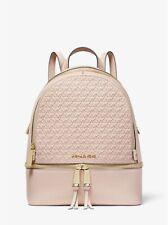 NWT MIchael Kors Rhea Medium Debossed Logo Leather Backpack