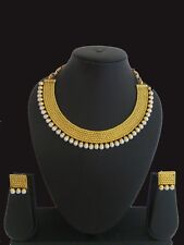 Set Gold plated traditional set indian Fashion Jewelry bollywood Necklace Earing