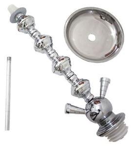 2-Hose 39 cm Hookah Stem 4 Grommets Shisha narghile for hookah pipe smoking
