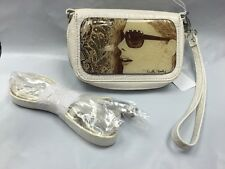 Debbie Brooks Wristlet Wallet Phone Cream White Silver SEPIA SUNGLASSES New