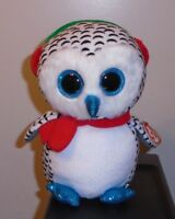 Ty Beanie Boos ~ NESTER the Christmas Owl (8-9 Inch Medium Size Buddy) 2018 NEW