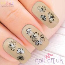 Gold & Silver Butterfly Adhesive Nail Art Stickers