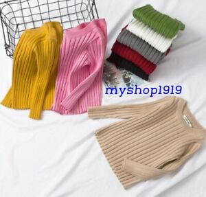 Boys Girls Jumper Winter Sweater Thick Knitted Warm Jumpers Age 2 3 4 5 6 Years