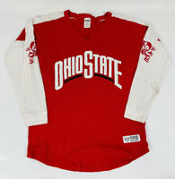 Victoria's Secret PINK Womens Small Red Ohio State Buckeyes Sequined Tee Shirt