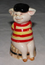 "Danbury Mint Piggies ""France's Bacon"" Pig Figurine 1 of 25 Pig Statue Piggies"