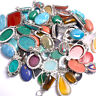 Rose Quartz & Mixed Gemstones Wholesale Lot 925 Sterling Silver Plated Pendant
