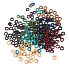 100Pcs Wood Dreadlock Beads Braids Hair Clips Round Cuff Dreads Ring Jewelry
