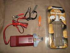 12 Volt Chainsaw Chain Sharpener-5/32+3/16+7/32Stones-For Stihl+Husky,Echo+Bonus