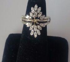 Vintage Estate 14k Diamond 2 Rings Enhancer .80 Tcw +Semi-Mount Solitaire Ring