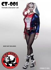 1/6 Cats Toys CT001 Suicide Squad Harley Quinn Sexy Costume Set With Head Sculpt