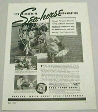 1940 Print Ad Johnson Sea-Horse 5 HP Outboard Motors Men Fishing Waukegan,IL