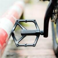 "MTB Aluminum Alloy Cycling Road Bike Bearing Bearing Pedals Flat Platform 9/16"""