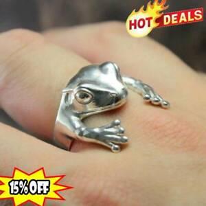Sterling Silber Ring Frosch solide handgefertigt Geschenk