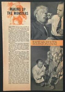 """Making Up Movie Monsters"" 1945 pictorial Maurice Seiderman Jack Pierce"