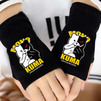 Anime Danganronpa Bear Cosplay Cotton Knitted Gloves Fingerless Mitten Warm Gift