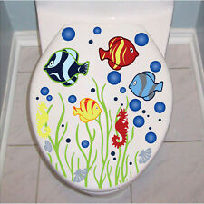 Removable Sea Fish Grass Art Vinyl Wall Sticker Paper Home Decor For Bathroom