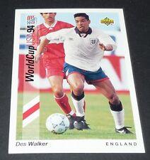 DES WALKER SAMPDORIA ENGLAND FOOTBALL CARD UPPER DECK USA 94 PANINI 1994 WM94