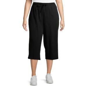 Terra & Sky Women's Plus Size Knit Capri Pants