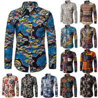 Fashion Vintage Shirt Mens Flower Beach Hawaiian Aloha Party Casual Holiday Top