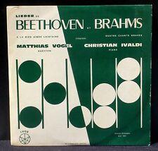 Beethoven Brahms Matthias Vogel Christian Ivaldi CV & LP EX