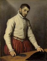 Beautiful Oil painting Giovanni Battista Moroni The Tailor male portrait canvas