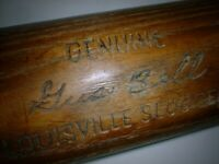 "Rare 35"" GUS BELL Bat Old Game S2 LOUISVILLE SLUGGER 125 REDS PIRATES METS 1962"