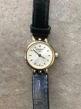 Tissot 1853 Women's Watch Genuine Black Leather Adjustable T058009 A Bin P