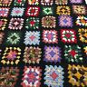 "Afghan Crochet Granny Square 36""x48"" Blanket Handmade Throw Bed Couch Quilt"