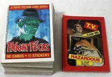1988 Topps Horror Fright Flicks 88 Card & 11 Sticker Set Freddy Krueger Alien