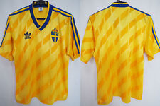 1988-1989-1990 Sweden SFF Vintage Jersey Shirt Home Adidas FIFA World Cup 42-44